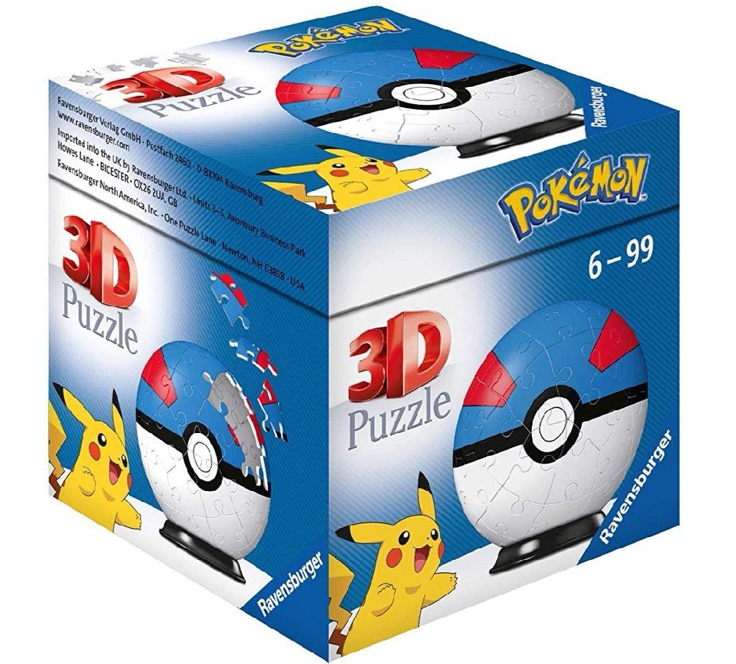 Ravensburger- Puzzle 3D Pokémon Pokéball (2 Modelos)
