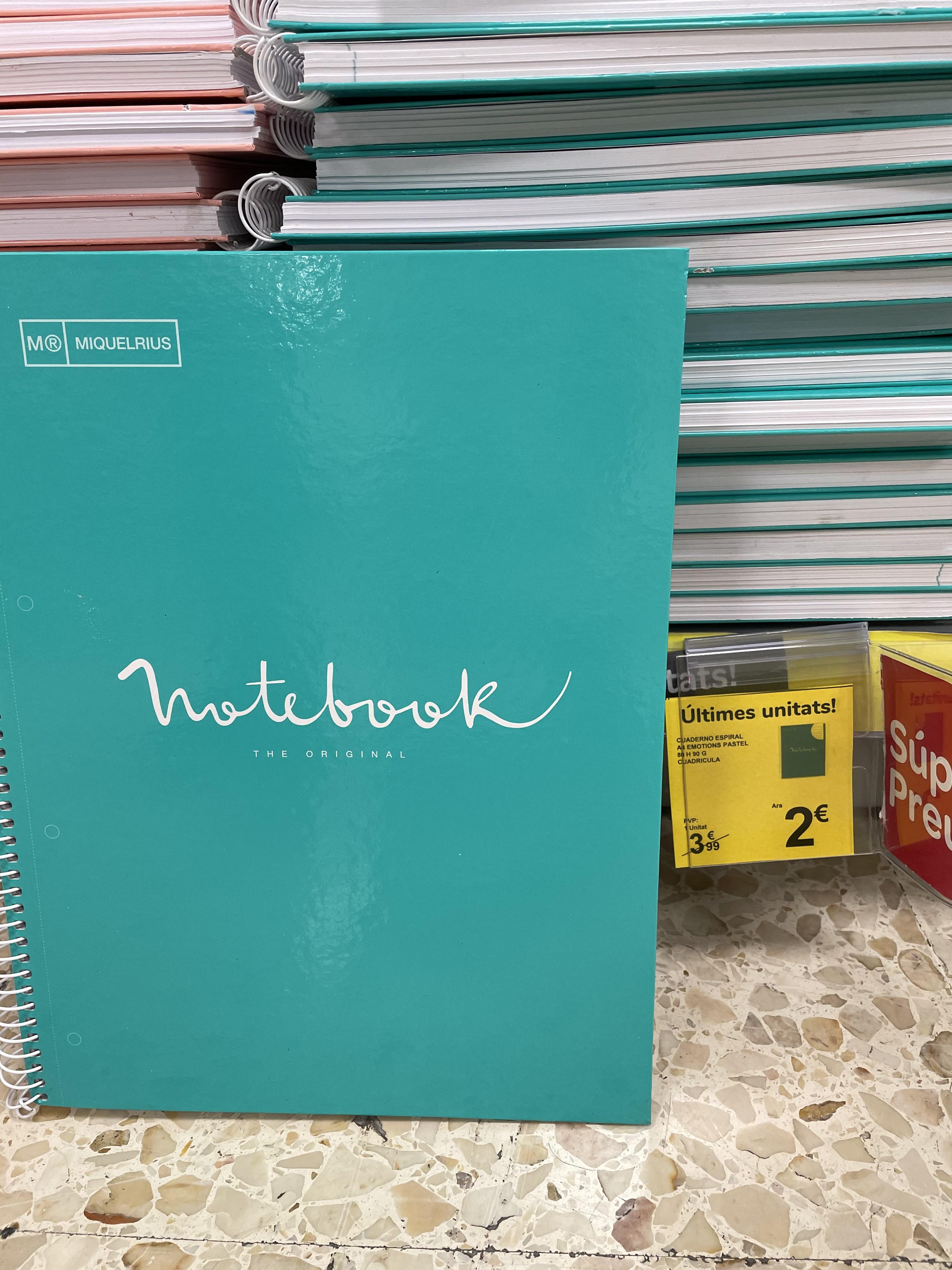 Libretas Notebook Miquelrius Carrefour Manresa