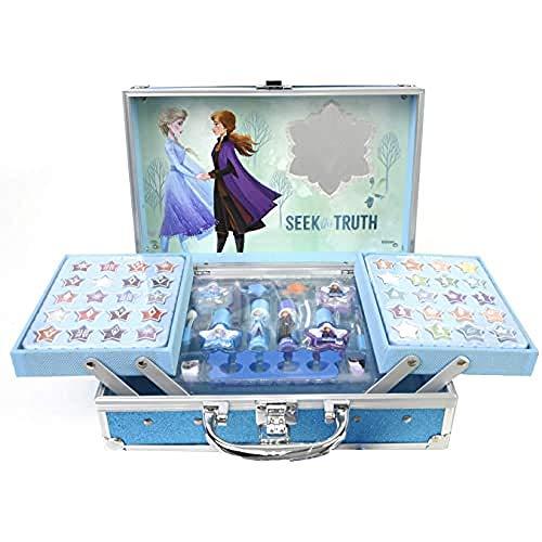 Maletín de Maquillaje de 2 Pisos - Set para Niñas - Frozen -