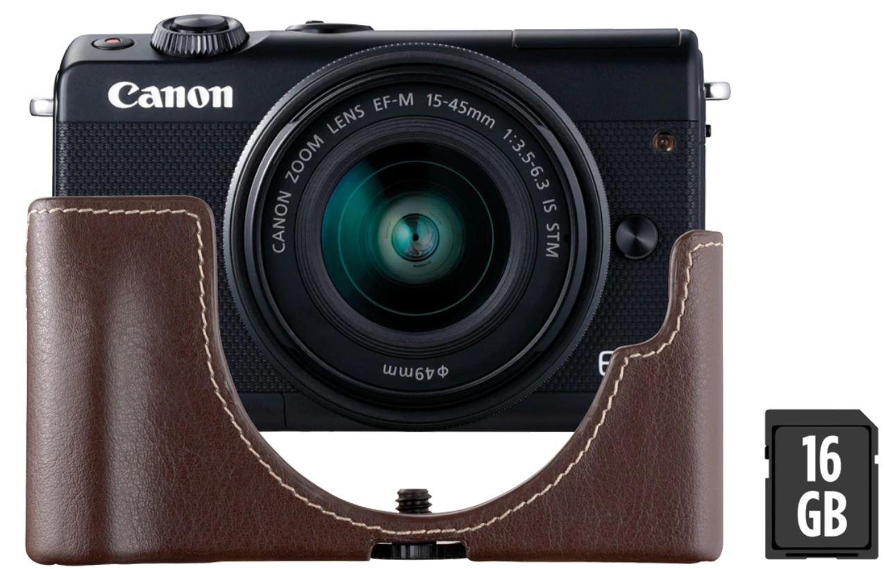 Canon EOS M100 Negra + Objetivo EF-M 15-45 mm