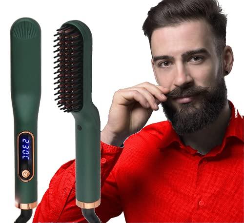 Cepillo Alisador de Barba y Cabello multifuncional para Hombres Y mujeres.
