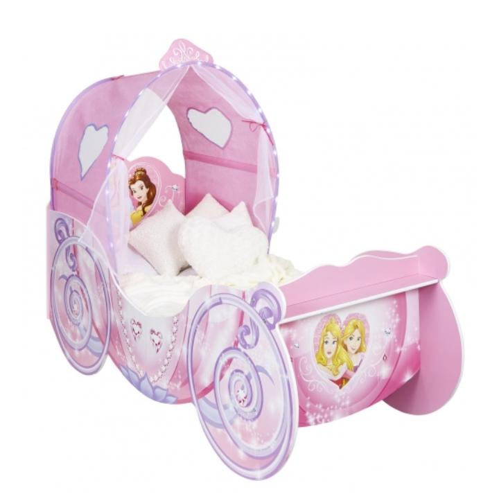Cama Infantil de Madera Princesas DISNEY 87,5x160x136 cm