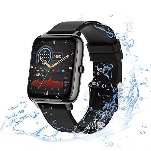 Smart Watch con Pantalla Táctil de 1,4 Pulgadas para Android iOS,eLinkSmart Smartwatch para Mujer Hombre