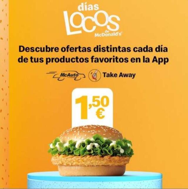McPollo por 1,5€ desde la app de Mcdonald's