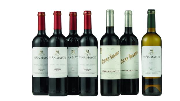 Caja vinos tintos Cosme Palacio y Viña Mayor Rioja, Ribera y Rueda