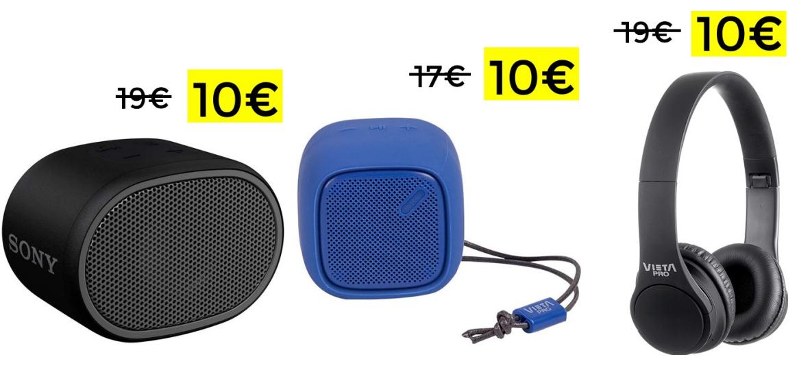 Altavoz Sony, altavoz Vieta o auriculares Vieta solo 10€ cada uno