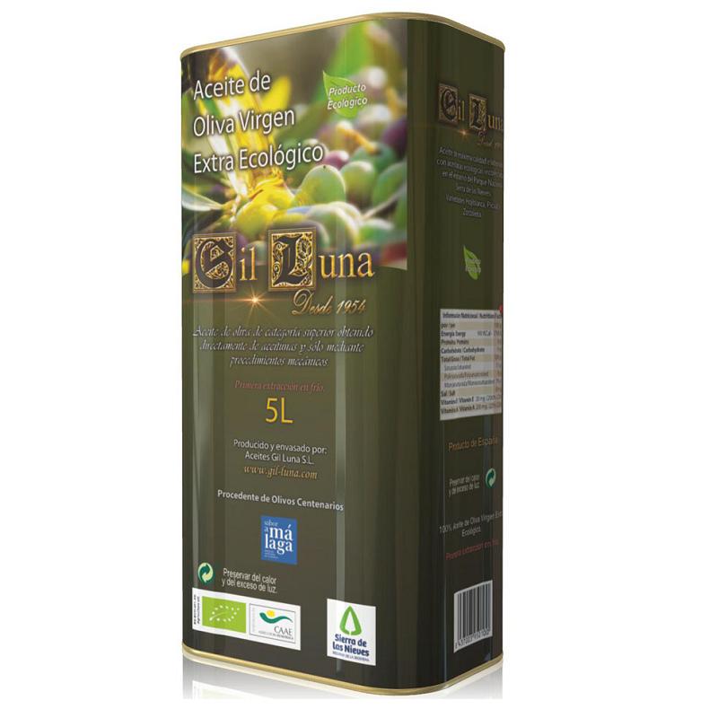 3 latas de 5L aceite ecológico olivo centenario, premio 2° mejor aceite del mundo