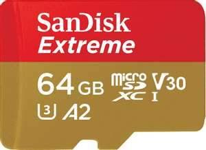 SanDisk Extreme microSDXC de 64 GB con adaptador SD, A2, hasta 160 MB/
