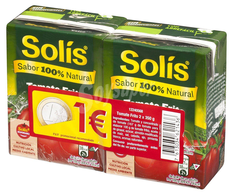 Tomate frito Solis pack 2 Carrefour Atalayas (Murcia) Adjunto el ticket de compra.