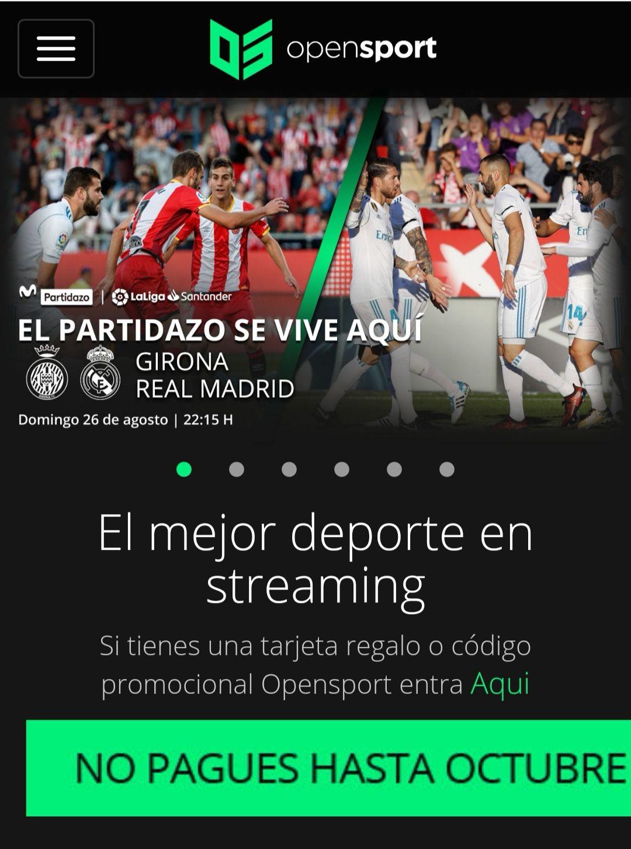 OpenSport , todo el fútbol por Internet sin necesidad de contratarlo con un operador