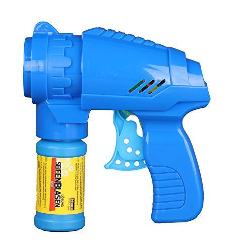 Pistola para pompas de jabón, 53 ml), Color Azul
