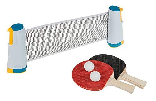 Juego de Ping Pong con Red, Dos paletas y Dos Pelotas, para un Montaje fácil.