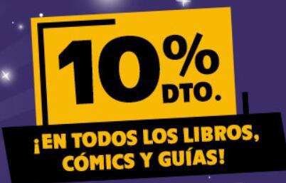 Ofertas día del libro 10% en libros, comics, guías y mucho más