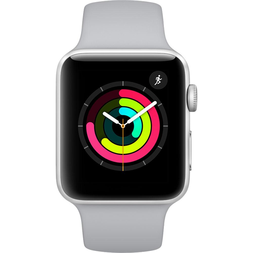 Apple Watch Series 3 42mm Plata con correa gris