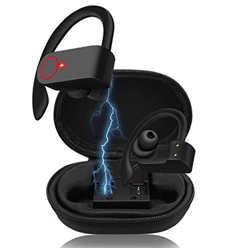 DdML Auricular Bluetooth inalámbrico con micrófono Cancelación el Ruido se USA más Tiempo Bluetooth 5.1 IPX7 para Deporte Gimnasio