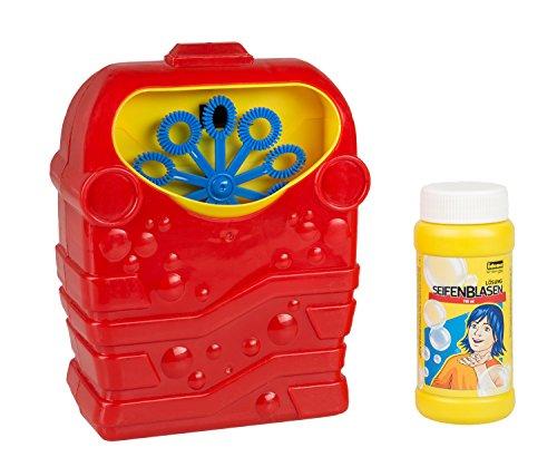 Máquina de pompas de jabón con 118 ml de solución de Burbujas a Pilas
