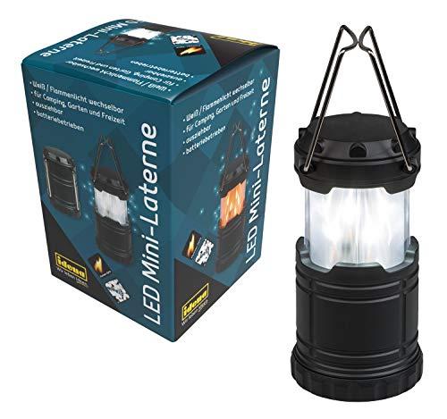 Mini Farol 33 LED Blanco y Llama Intercambiable, Exterior Extensible y portátil, Funciona con Pilas.