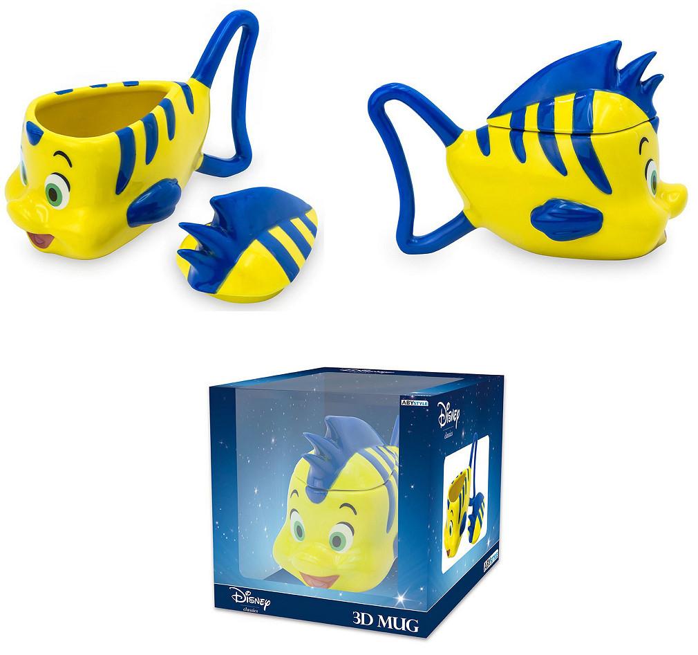 Taza 3D Disney La Sirenita del pez Flounder