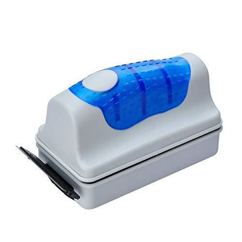 Cepillo limpiador magnético para acuario flotante , con 2 raspadores.