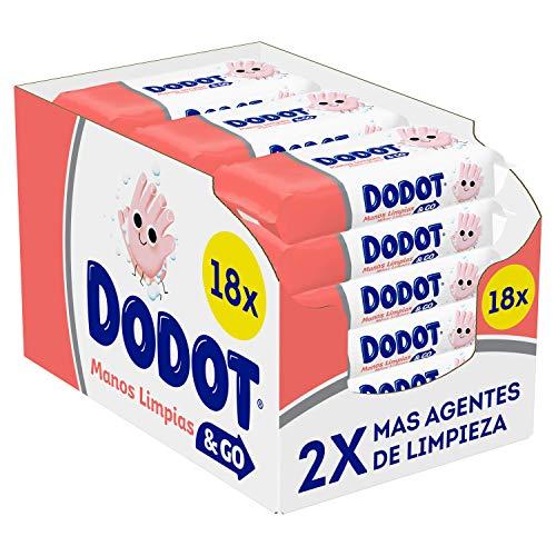 DODOT Manos Limpias & Go 18 Paquetes De 40 Unidades
