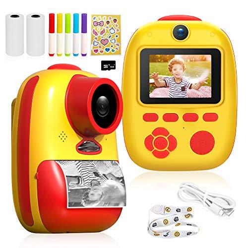 Cámara Digital para niños Recargable 26MP con impresión instantánea y Tarjeta SD de 32G