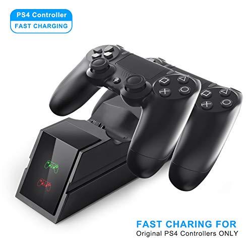 PS4 Controller Cargador Dual USB de carga rápida Playstation 4 / PS4 Pro / PS4 Slim
