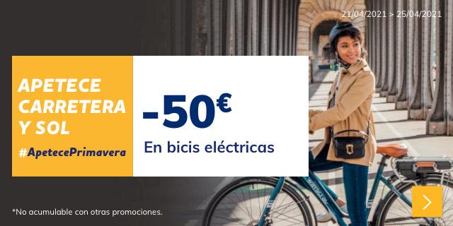 50€ de descuento en bicis eléctricas