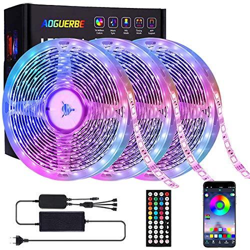 Pack de 3 Rollos de Tiras LED de 5M cambio de color control remoto (15 metros en total)