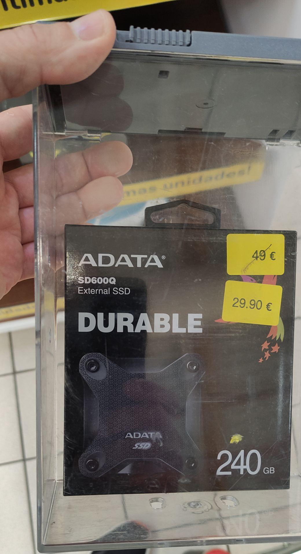 SSD externo Adata 240Gb en Carrefour Roquetas
