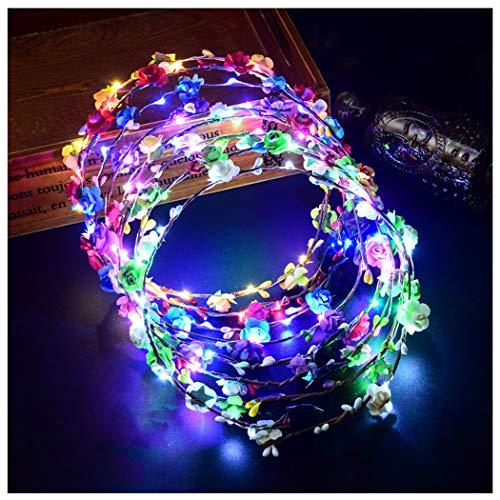 7 unidades Diademas Luminosas 10 LEDs