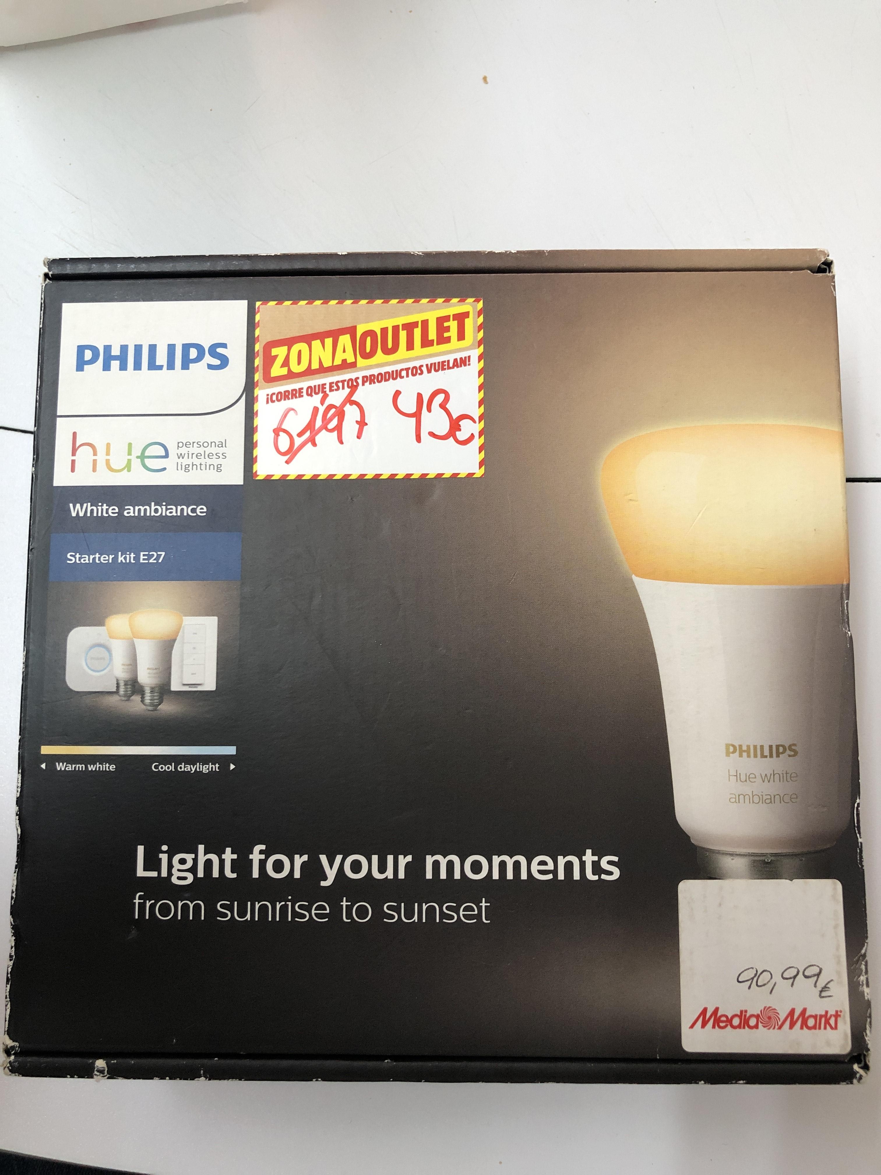 Philips domótica starter kit e27 (Outlet MediaMarkt Zubiarte)