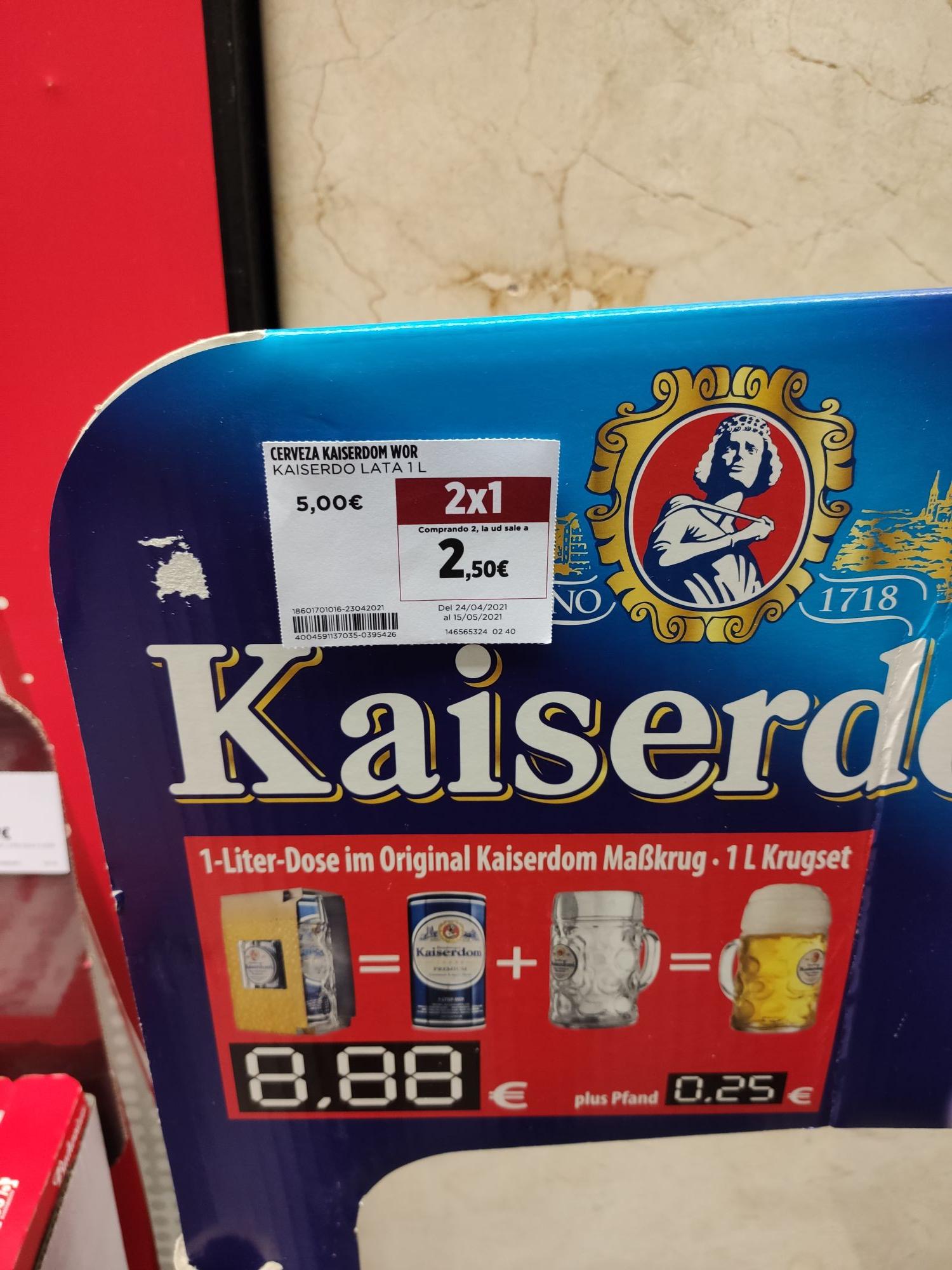 Cerveza Kaiserdom 1L + Jarra