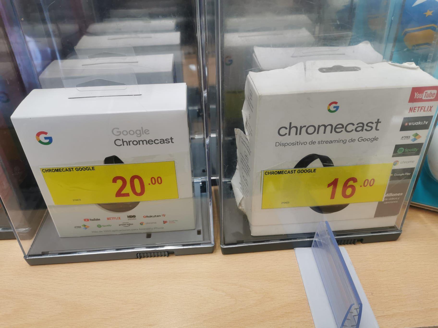 Chromecast a precio derribo
