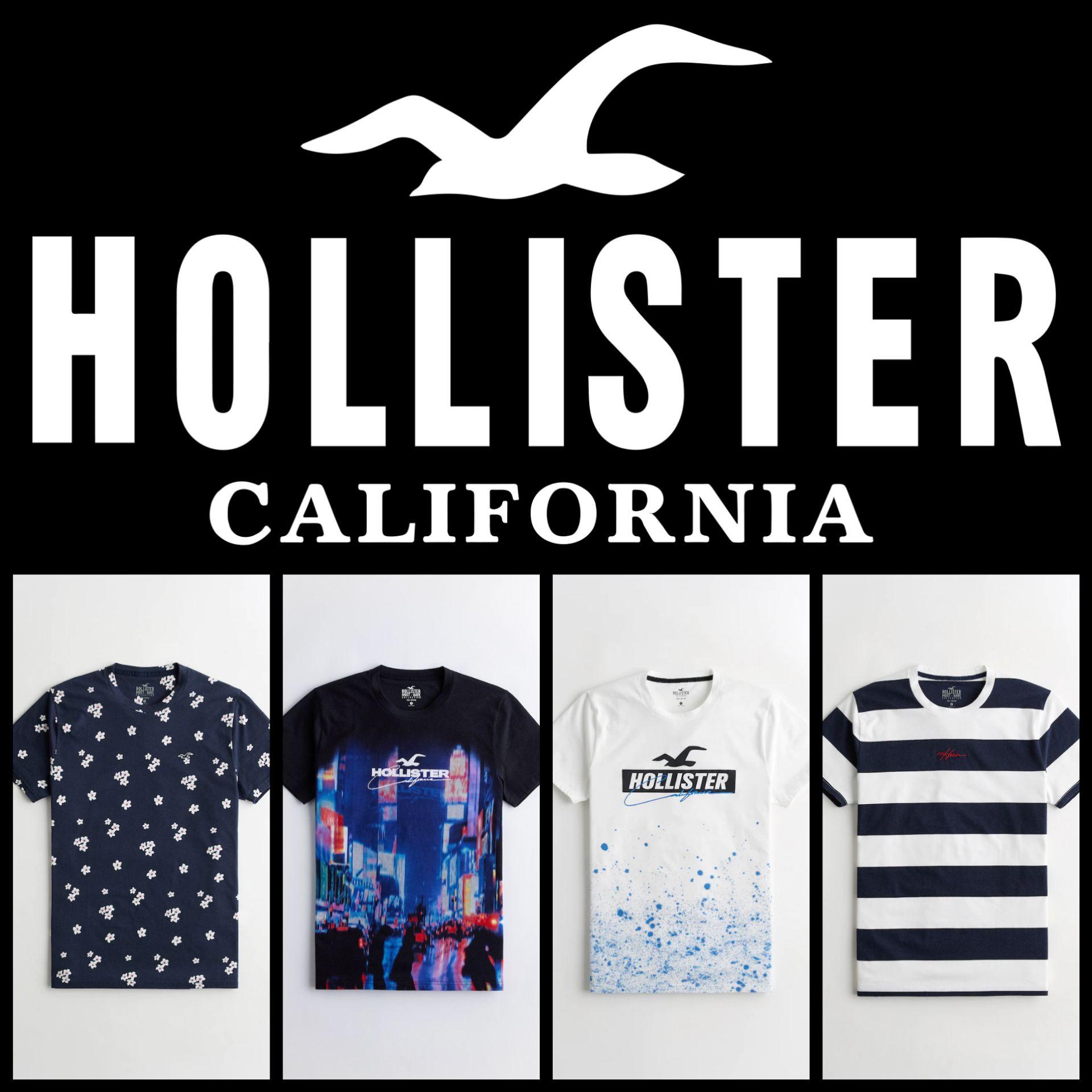 Recopilación Camisetas Hollister para Hombre ( 2° Unidad al 50% )