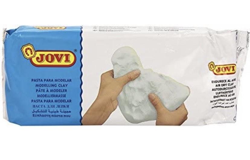 Jovi- Air Dry Pasta para modelar, Color blanco, 1 kilo