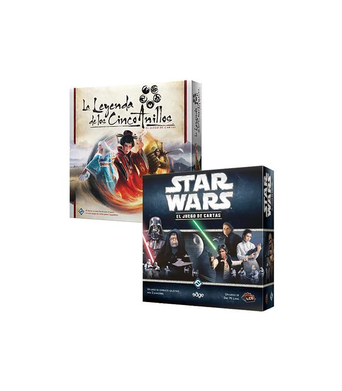 Pack Sw - Star Wars Lcg: Caja Básica + Leyenda De Los Cinco Anillos Lcg