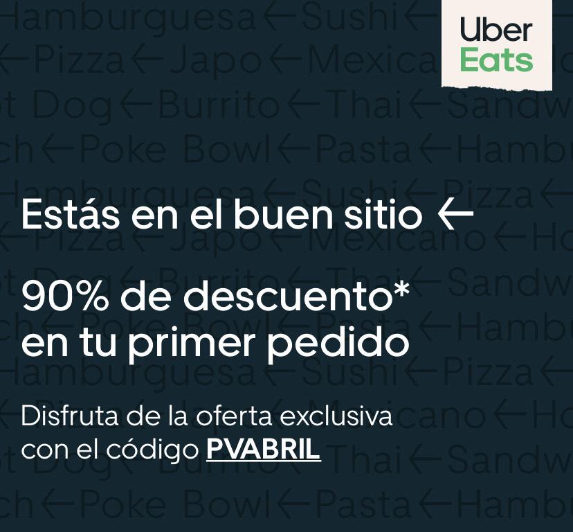 Descuento del 90% en tu primer pedido Uber Eats con Privalia