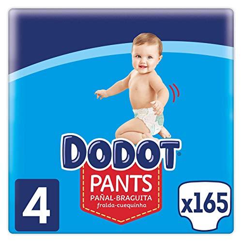 Con compra recurrente a 0,18€ el pañal!! Dodot Pañales Bebé Pants Talla 4 (9-15 kg), 165 Pañales