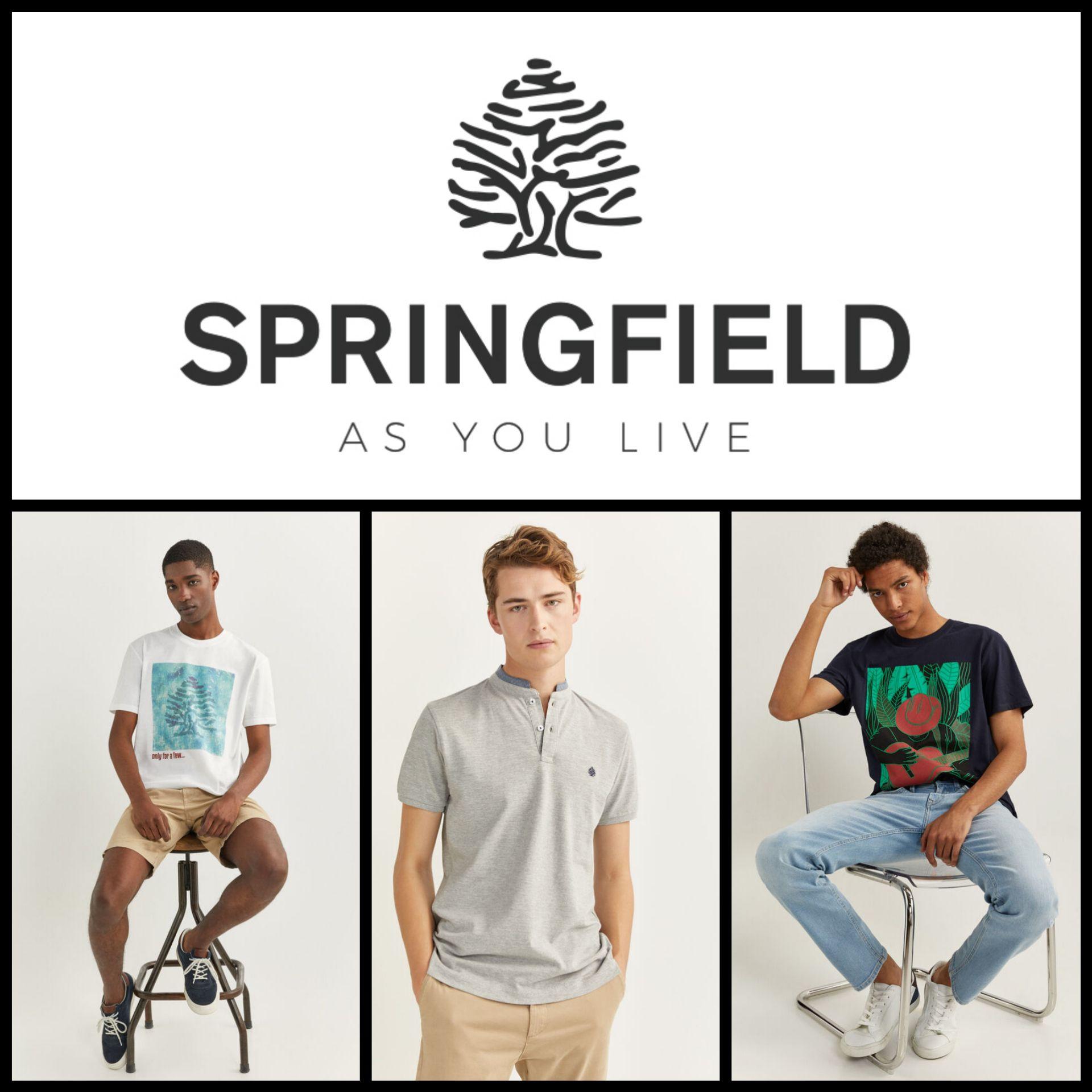 Súper Recopilación Camisetas Springfield para Hombre por 5,10€ y 6,40€