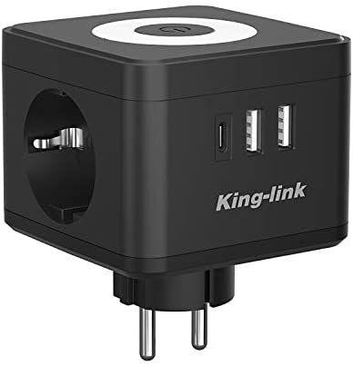 Enchufe Multiple con 3 conexiones de cargador USB