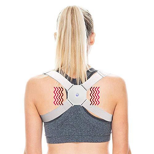 Corrector de posturas de hombro y espalda,con Vibración para aliviar el dolor