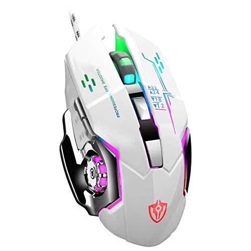 GUANEE Ratón ergonómico para juegos, RGB, con mango cómodo, para PC, portátil