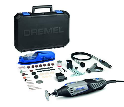 Dremel 4000 - Multiherramienta, 175 W, kit con eje flexible, 65 accesorios y 4 complementos