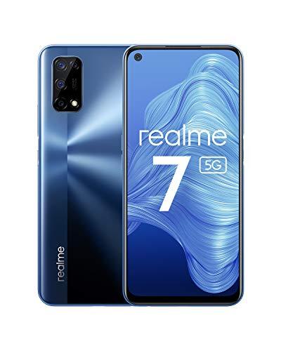 realme 7 5G - smartphone de 6.5, 6GB RAM + 128GB de ROM, 120Hz Ultra Smooth Display, 48MP Quad Camera, batería con 5000mAh y carga de 30W