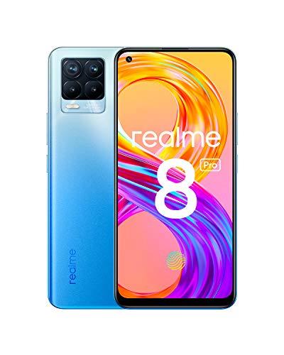 """realme 8 Pro Smartphone Libre, Cámara cuádruple Ultra de 108 MP, Pantalla completa AMOLED superior de 6,4"""", Carga SuperDart de 50 W."""