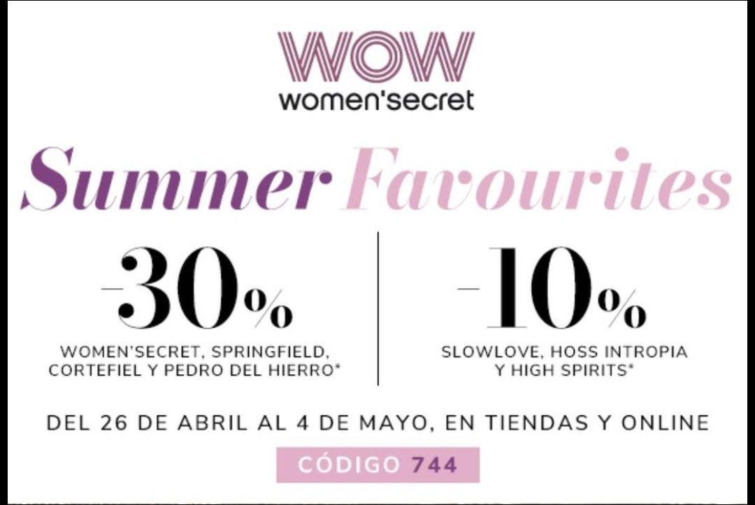 TODO -30% en Women'secret, Springfield, Cortefiel y PdH
