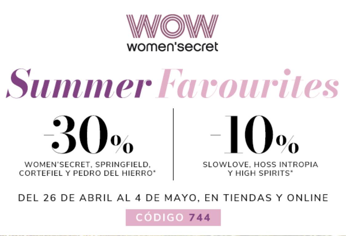 TODO -30% en Women'secret, Springfield, Cortefiel y Pedro del Hierro | -10% en High Spirits, Slowlove y Hoss Intropia