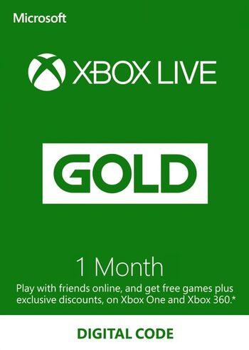 Suscripción Xbox Live Gold 1 mes