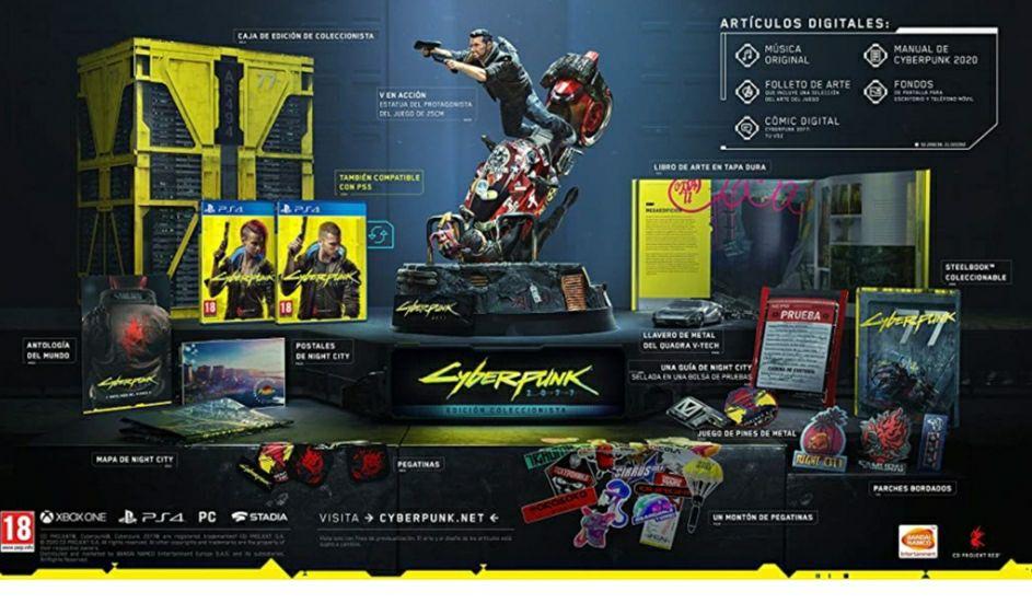 Edición coleccionista cyberpunk PS4