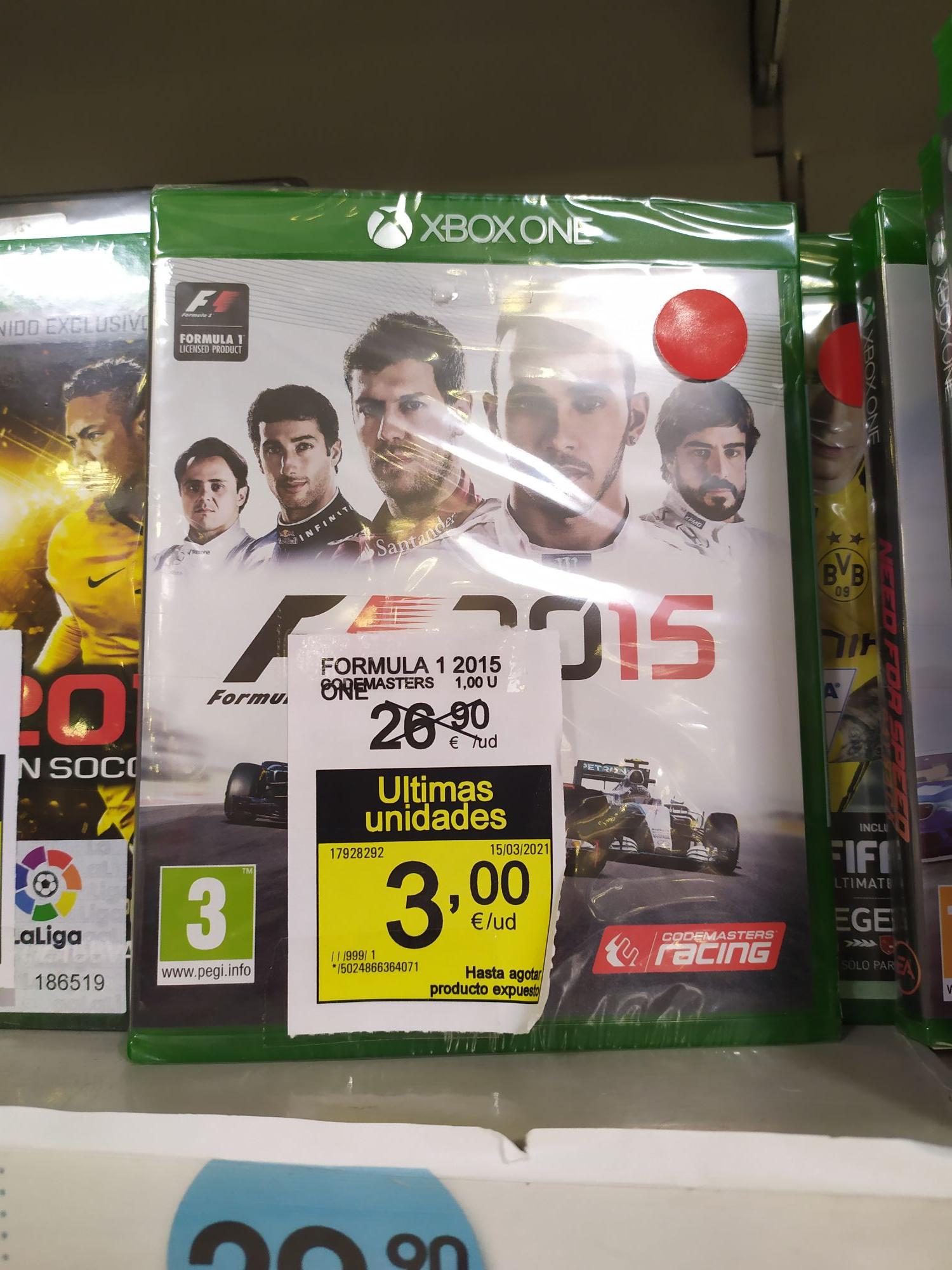 Formula 1 2015 Xbox one